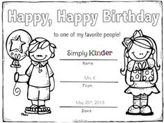 Simply Kinder: Ink Money & Colorable Certificates for the Entire Year {With Freebie}
