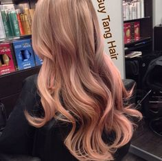 Guy tang Peach coral blonde ombre