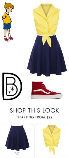 """Christopher Robin DisneyBound"" by poppunkmusician ❤ liked on Polyvore featuring QNIGIRLS and Vans"