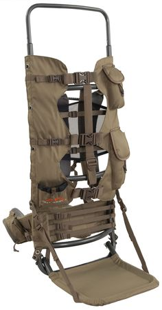 """ALPS OutdoorZ Commander Frame Only. Unique Lashing System Secures Meat For Long Hauls. Adjustable Shoulder Harness For Individualized Comfort. Adjustable Torso Range 17-23"""" Allows You To Customize The Pack To Comfortably Haul Heavy Loaded. Waist Belt Can Accommodate Clip-Style Holsters. Total Pack Weight: 5.1 lbs."""