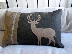 Inspired by Nordic Living Style Sewing Pillows, Diy Pillows, Custom Pillows, Decorative Pillows, Throw Pillows, Homemade Pillows, Applique Cushions, Deer Pillow, Long Pillow