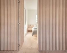 Marylebone Apartment by Proctor & Shaw Timber Walls, Wooden Walls, London Apartment Interior, Parisian Apartment, Apartment Layout, Apartment Living, Living Room, Minimalist Apartment, Terrazzo