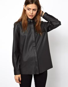 ASOS Shirt in Leather Look