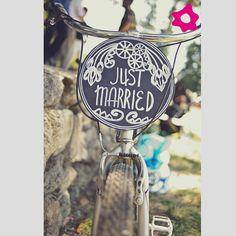 Carteles Just Married para tu boda. #Bodas #Decoración