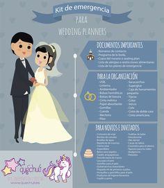 Infografía: kit de emergencia para wedding planners. Todo lo que se debe llevar…