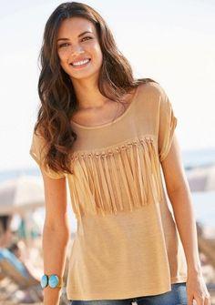 Tričko so strapcami Moda Boho, Boho Fashion, Glamour, Women, Style, Products, Bangs, Plunging Neckline, Seasons