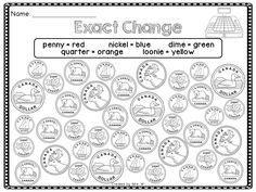 Canadian Money Worksheet | Educational | Pinterest | Money, Money ...