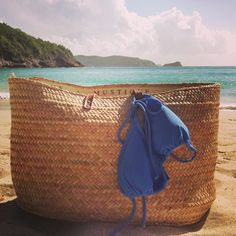 """""""Beach time on #mustique with a #pinkhousemustique #beachbag and #bikini"""" Photo taken by @pinkhousemustique on Instagram, pinned via the InstaPin iOS App! http://www.instapinapp.com (11/20/2014)"""