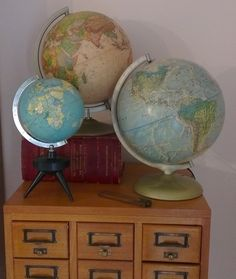 for the office...collection of globes
