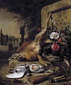 WEENIX, Jan:  Still-Life of Game,  1703,  Oil on canvas, 112 x 95 cm,  Private collection