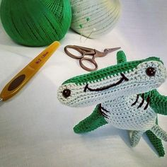 Playing with some DMC Petra 5 and a 1.5mm crochet hook baby Hank! #crochet #amigurumi