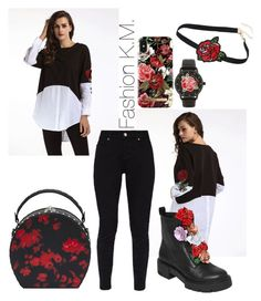 """""""Flower Lady❤🌷"""" by karinemarutyan ❤ liked on Polyvore featuring Ted Baker, Bertoni, iDeal of Sweden and Betsey Johnson"""