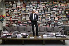 Karl Lagerfeld + books