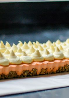 Thai Tea Parfait Tart with Almond Crunch Crust and Lemon Mascarpone. Inspired by Momofuku Milk Bar. From Blossom To Stem | Because Delicious www.blossomtostem.net