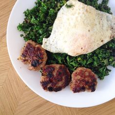Homemade sausage is pretty easy to make. Pork  spices  onion. Don't buy the packaged kind with additives when it's so easy as good to make at home. #lowcarb #kale #sausage #paleobreakfast #paleo #glutenfree #eggs #homemade #healthy #health #whole30