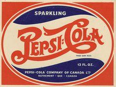 Pepsi-Cola - Canadian bottle label - 1940's by JasonLiebig, via Flickr