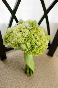 Light green hydrangeas as support player only -or- just in taller arrangements. NOT centerpieces with curly willows