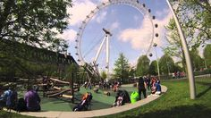 London with kids. Secret Playground near London Eye. London