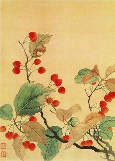 Yun Shouping [恽寿平 - 花卉图]. Китайские художники средних веков