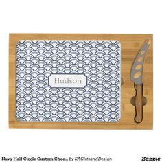 Navy Half Circle Custom Cheese Board