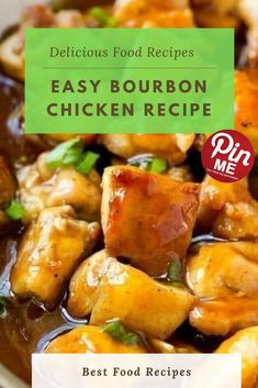 Easy Bourbon Chicken Recipe  This bourbon bird recipe is a remake of the food court docket conventional. The chook is lined in an irresistible candy and sticky sauce and is certain to turn out to be a circle of relatives favored! To make bourbon fowl, you'll want chook and a handful of pantry substances to make the sauce.  #easycrockpotmeals #crockpotchicken #crockpotchickenrecipes #BestFood Bourbon Chicken Recipe Easy, Best Chicken Recipes, Chicken Salad Recipes, Good Food, Yummy Food, Food Court, A5, Pantry, Easy Meals