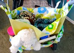 Use this free stroller bag pattern to create a bag large enough to carry everything you need for long walks with the kids. This stroller travel bag includes multiple pockets so everything has it's own place. Not to mention, it's cute too!
