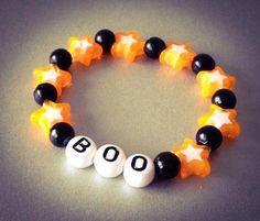 Halloween Bracelet, Boo, Halloween Party Favors for Babies, Kids, Children Jewelry by NadiaBo on Etsy, $5.00 #jewelrymakingforchildren #jewelryforyourbaby