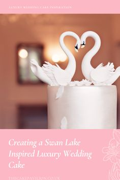 Read all about how I created a stunning Swan Lake inspired luxury wedding cake