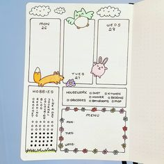 """3 Likes, 1 Comments - Siân Hope (@shazzeth) on Instagram: """"Just finished my last week of February - I think this page is super cute #bulletjournal #bujo #cute…"""""""