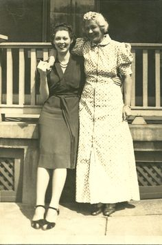 Great Aunt Grace (on the right) and her dear friend from Ohio, name unknown.