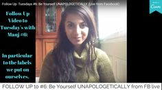 Follow Up- Tuesdays #6: Be Yourself UNAPOLOGETICALLY (Live from Facebook) Cookie Videos, Spiritual Wellness, Tuesday, Long Hair Styles, Facebook, Live, Beauty, Beleza, Long Hair Hairdos