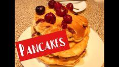 Caltite americane/Pancakes cu cirese.(CC Eng sub) Pancakes, Cherry, Sugar, Make It Yourself, Baking, Breakfast, Youtube, Food, Morning Coffee