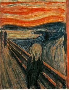 EL GRITO, EDWARD MUNCH        En una entrada anterior comenté que, dentro del proyecto sobre el miedo, íbamos a trabajar la obra de Ed...