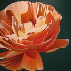 "Dyana Hesson-""Orange Flower #8200"" oil on canvas"