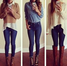 Image uploaded by Jess. Find images and videos about girl, fashion and style on We Heart It - the app to get lost in what you love. Jeans Bleu, Mode Jeans, Jeans Skinny, Clothing Items, Diy Clothes, Casual Clothes, Fashion Outfits, Fashion Trends, Womens Fashion