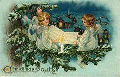 старинные новогодние открытки: 21 тыс изображений найдено в Яндекс.Картинках