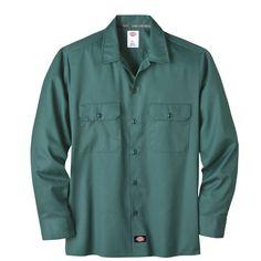Dickies Long Sleeve Work Shirt, moisture wicking, stain release