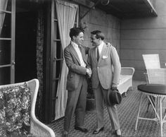 Charlie Chaplin with Max Linder