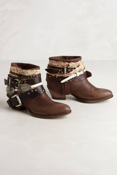 what to do with old belts; Kanna Ankle Boots - anthropologie.com