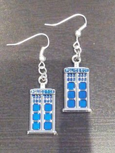 Doctor Who TARDIS Earrings by rachemstar on Etsy