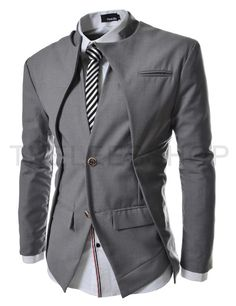 ::::Theleesshop:::: All mens slim & luxury items Slim fit Double Collar 2 Button Blazer Jacket Indian Men Fashion, Mens Fashion Suits, Mens Suits, Asian Fashion, Mode Masculine, Casual Mode, Designer Suits For Men, Cool Outfits, Fashion Outfits