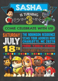 FREE Printable Paw Patrol Birthday Invitation | Kids' Parties ...