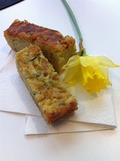 A sweet lemon cake with courgette to add moistness. A favourite of Sarah Raven's husband, Adam Nicolson. Courgette And Lemon Cake, Courgette Cake Recipe, Tray Bake Recipes, Cake Recipes, Veggie Cakes, Muffins, Delicious Desserts, Yummy Food, Lemon Drizzle Cake