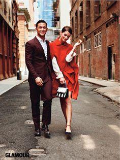 makes me a want a #burgundy #suit a la Joseph Gordon-Levitt