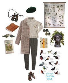 """Ornithologist"" by sam-penzance ❤ liked on Polyvore featuring Hillier Bartley, A.P.C., Dr. Martens, Antler, Christian Dior and Jay Strongwater"