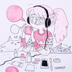 Kai Fine Art is an art website, shows painting and illustration works all over the world. Character Design References, Character Art, Gouache Illustrations, Graphic Design Illustration, Illustration Art, Minimalist Bullet Journal, Posca Art, Chibi, Quirky Art