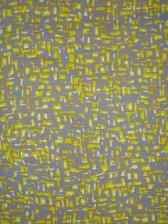 Chartreuse and Taupe Abstract Print Linen and Rayon Fabric--One Yard. $14.95/yard, via Etsy.