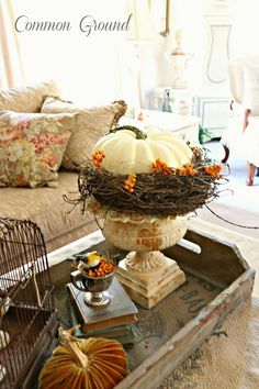 Common Ground: A Fall Mantel for when you don't know what else to do...