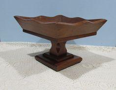 Wooden Pedestal Bowl  Large Wooden Fruit Bowl  by BusyOnBlackwood