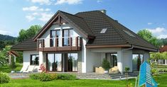 Proiectul de Casa de locuit cu parter, mansarda si garaj   Proiectari si Constructii Design Case, Home Fashion, Gazebo, House Plans, Outdoor Structures, House Design, Cabin, House Styles, Home Decor